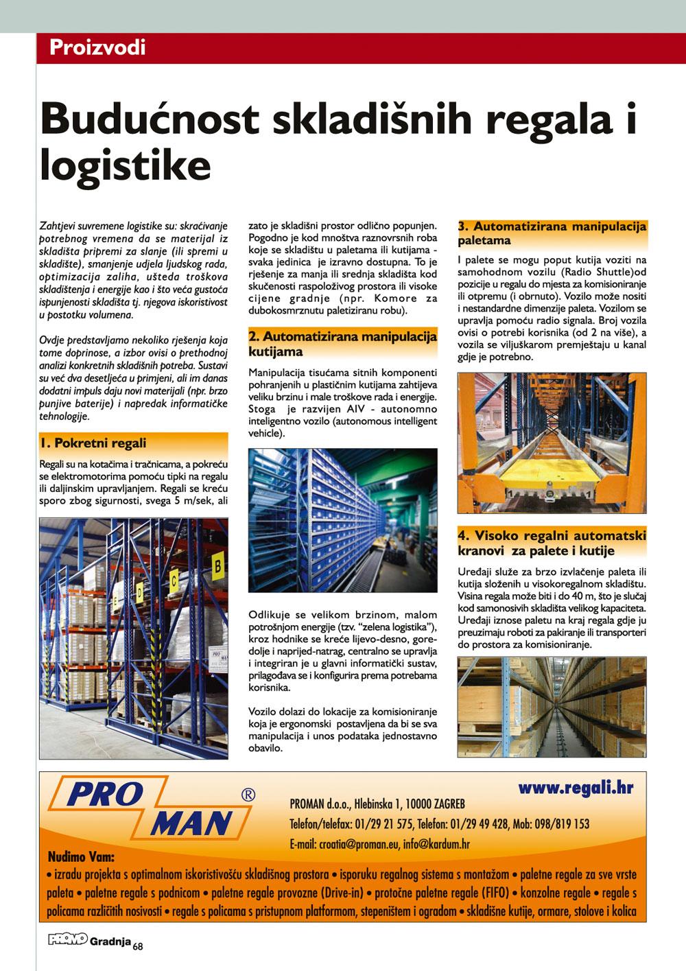Budućnost skladišnih regala i logistike